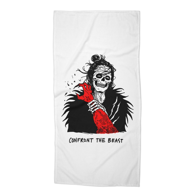 Confront The Beast Accessories Beach Towel by skullpelillustrations's Artist Shop