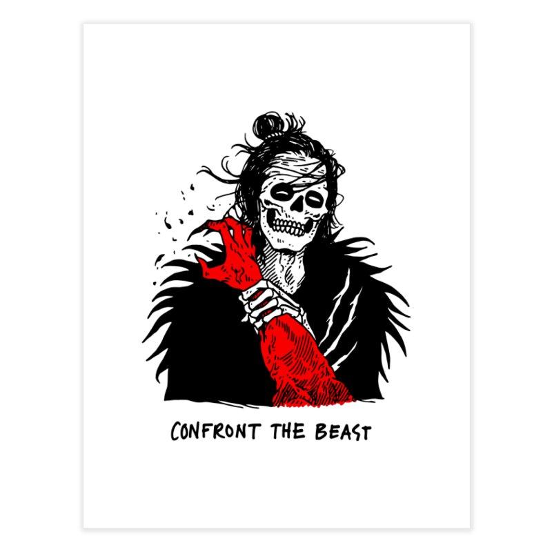 Confront The Beast Home Fine Art Print by skullpelillustrations's Artist Shop