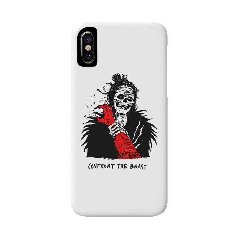 Confront The Beast Accessories Phone Case by skullpelillustrations's Artist Shop