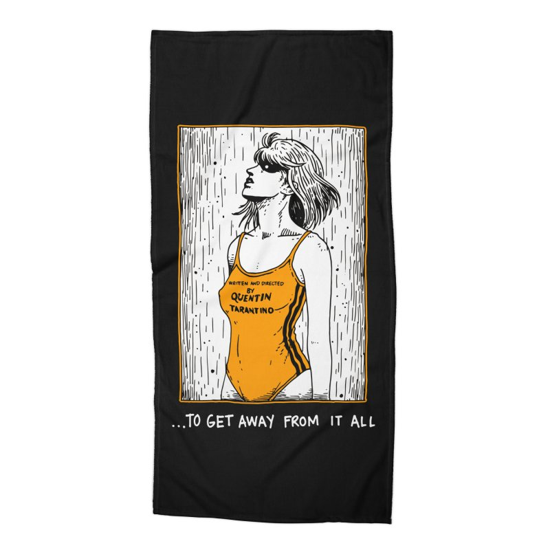 Christmas Wish... Is To Get Away From It All Accessories Beach Towel by skullpelillustrations's Artist Shop
