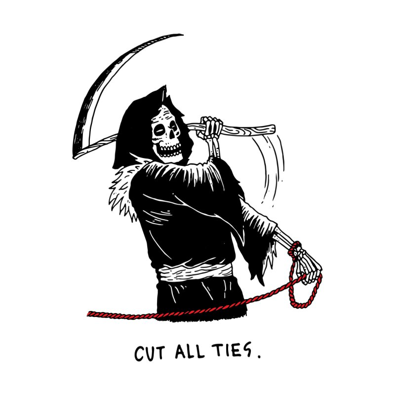 Cut All Ties by skullpelillustrations's Artist Shop