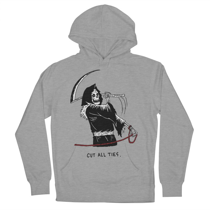 Cut All Ties Men's French Terry Pullover Hoody by skullpelillustrations's Artist Shop