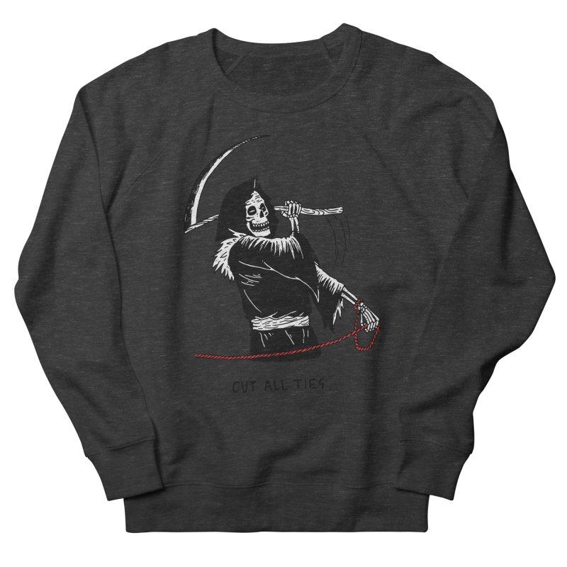 Cut All Ties Men's French Terry Sweatshirt by skullpelillustrations's Artist Shop