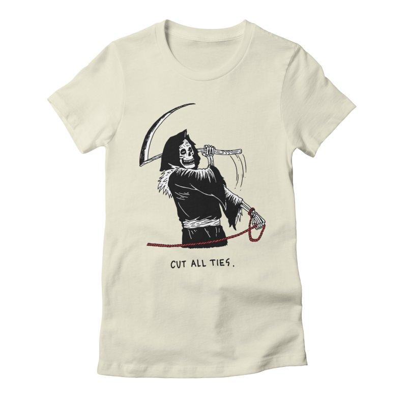 Cut All Ties Women's Fitted T-Shirt by skullpelillustrations's Artist Shop
