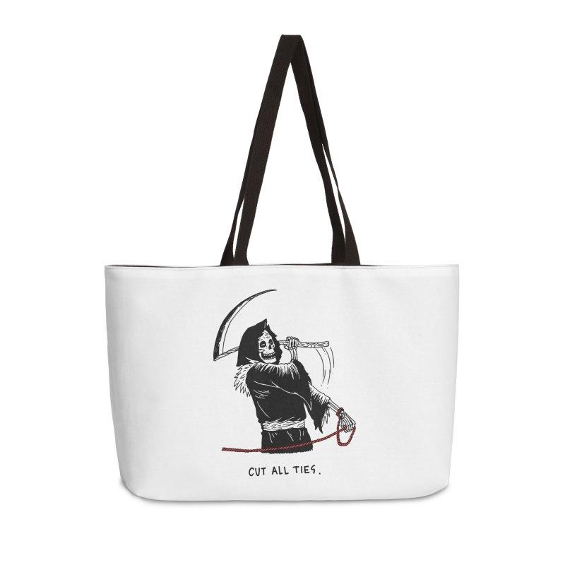 Cut All Ties Accessories Weekender Bag Bag by skullpel illustrations's Artist Shop
