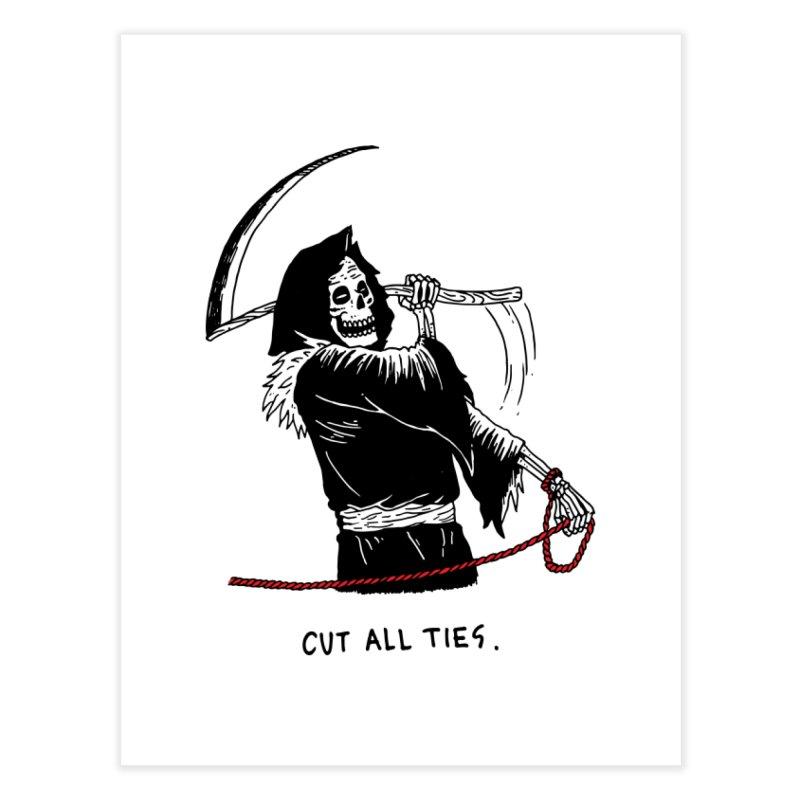 Cut All Ties Home Fine Art Print by skullpelillustrations's Artist Shop