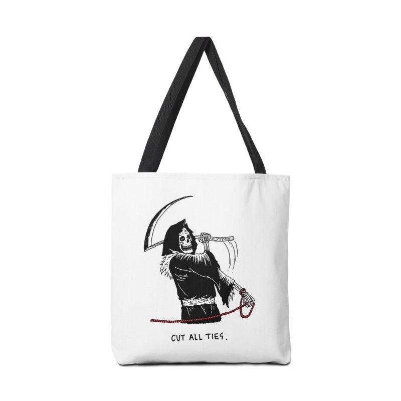 Cut All Ties Accessories Bag by skullpelillustrations's Artist Shop