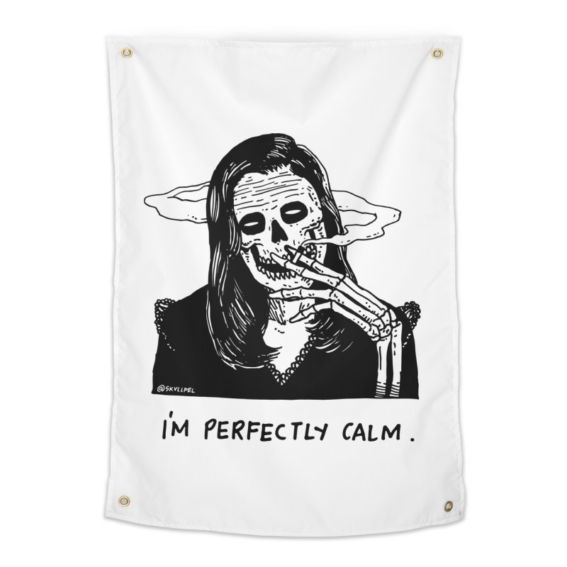 I'm Perfectly Calm Home Tapestry by skullpel illustrations's Artist Shop