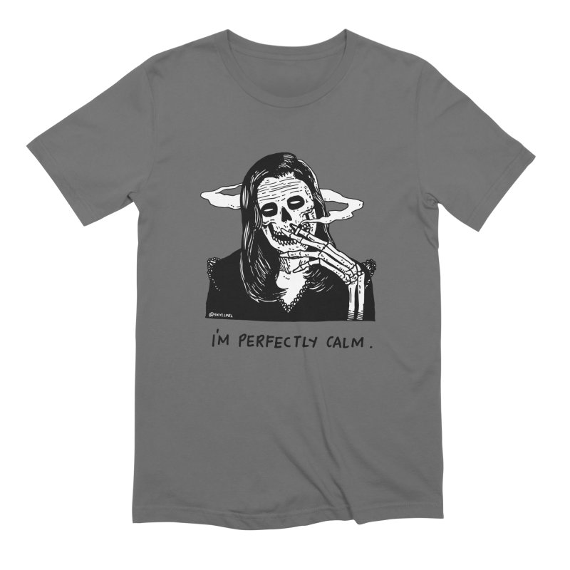 I'm Perfectly Calm Men's Extra Soft T-Shirt by skullpel illustrations's Artist Shop