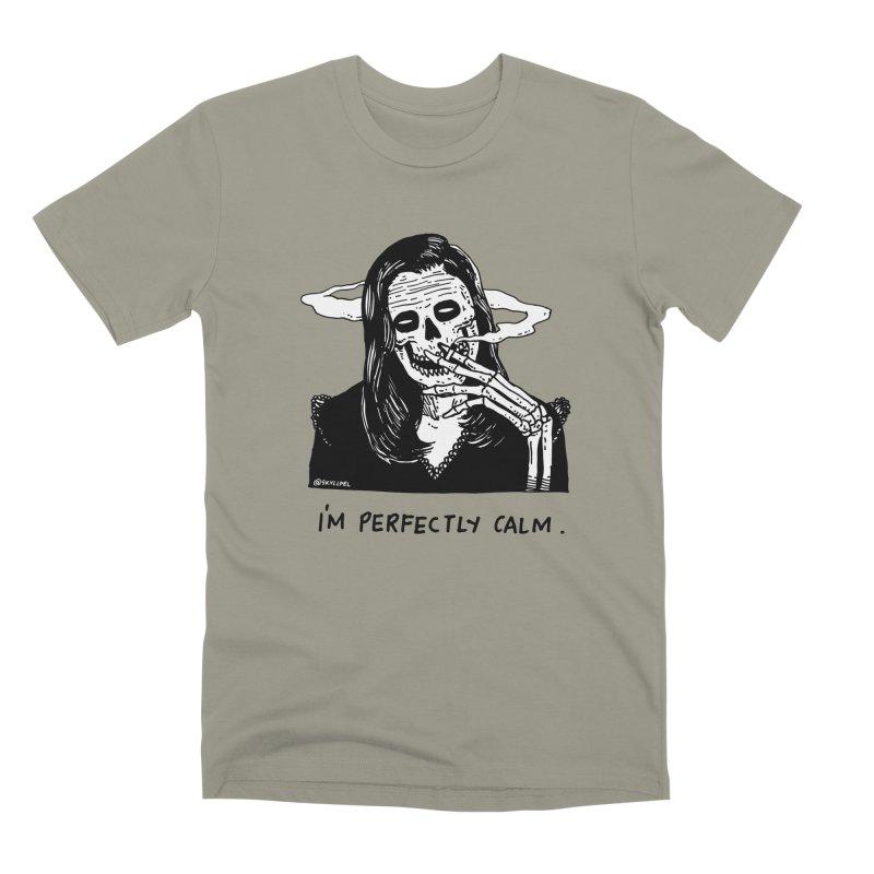 I'm Perfectly Calm Men's Premium T-Shirt by skullpel illustrations's Artist Shop