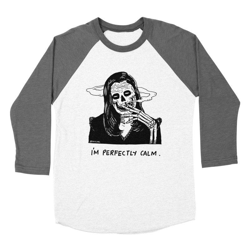 I'm Perfectly Calm Men's Baseball Triblend Longsleeve T-Shirt by skullpel illustrations's Artist Shop