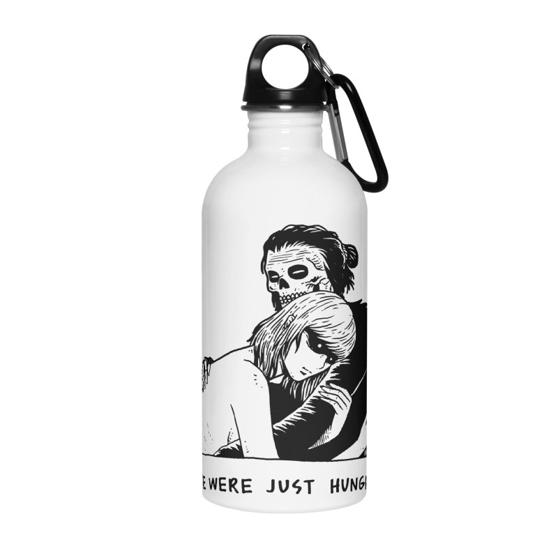 We Were Just Hungry Accessories Water Bottle by skullpel illustrations's Artist Shop