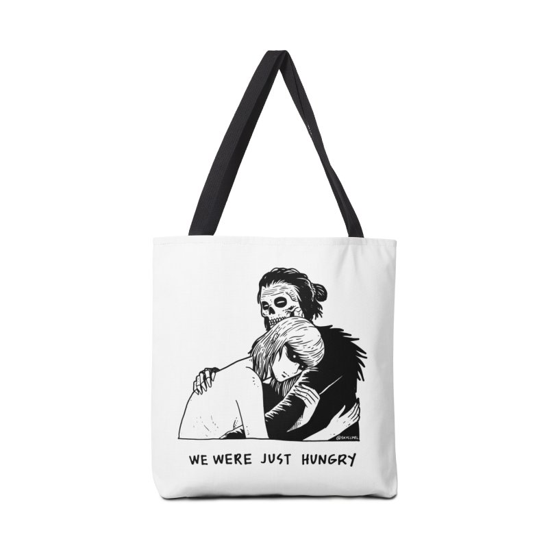 We Were Just Hungry Accessories Bag by skullpelillustrations's Artist Shop