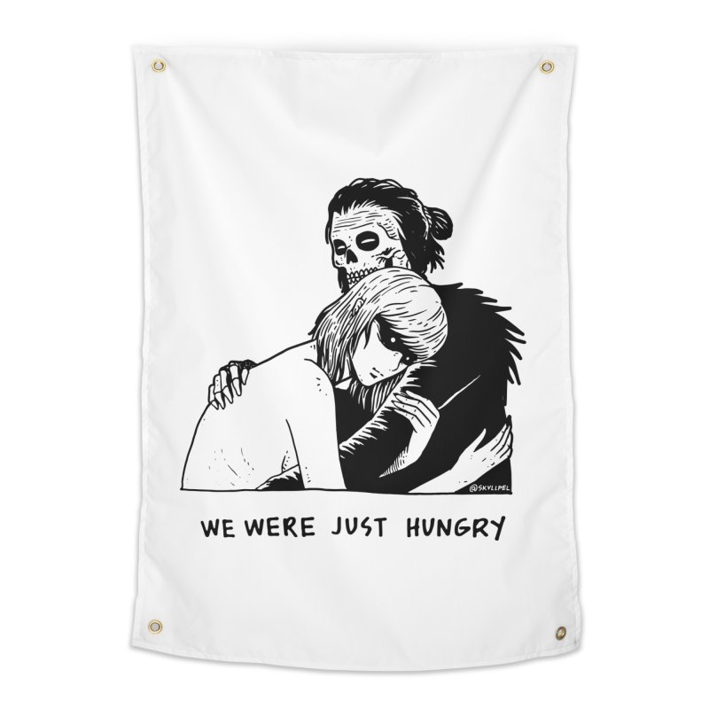 We Were Just Hungry Home Tapestry by skullpel illustrations's Artist Shop