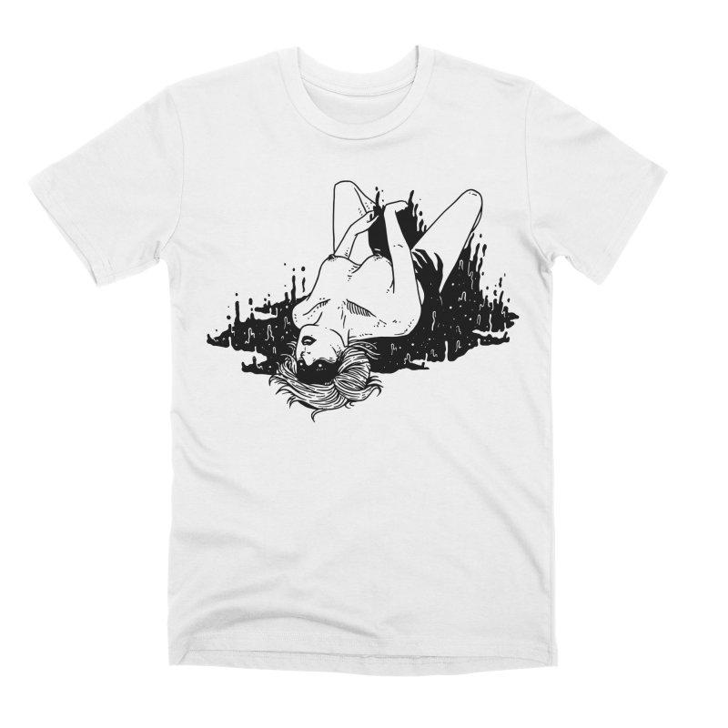Darkness Comes, So Does She Men's Premium T-Shirt by skullpel illustrations's Artist Shop