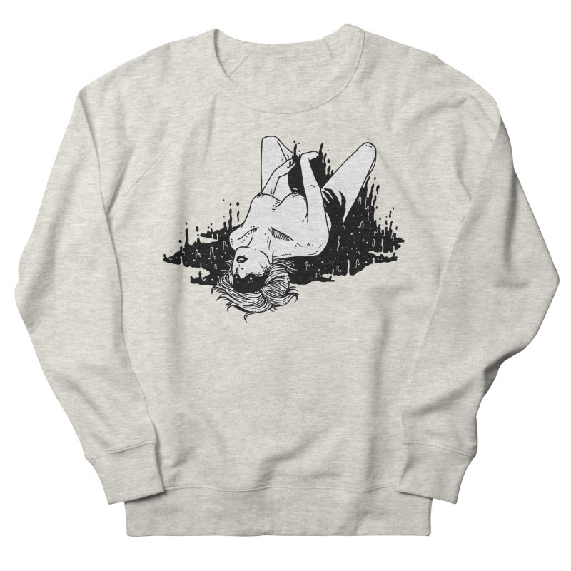 Darkness Comes, So Does She Women's French Terry Sweatshirt by skullpel illustrations's Artist Shop