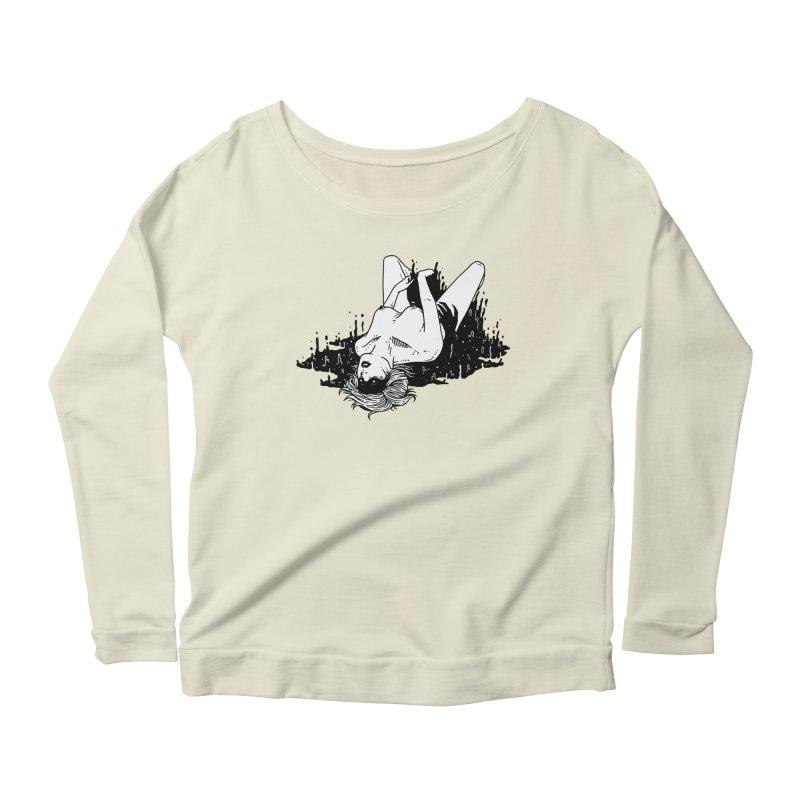 Darkness Comes, So Does She Women's Scoop Neck Longsleeve T-Shirt by skullpel illustrations's Artist Shop