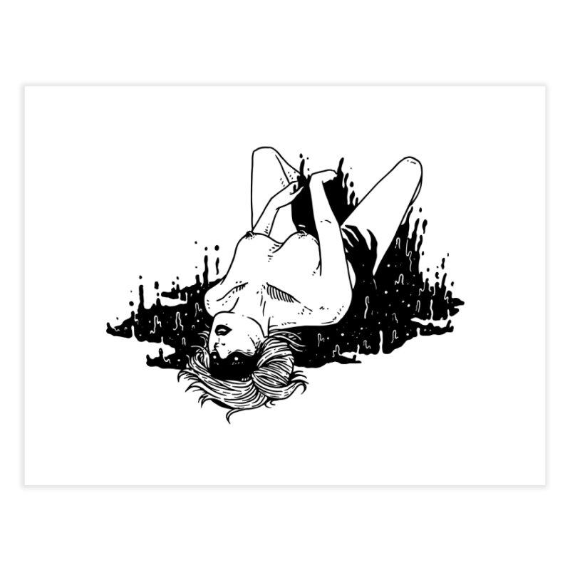 Darkness Comes, So Does She Home Fine Art Print by skullpel illustrations's Artist Shop
