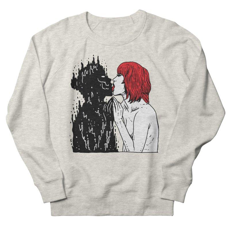 Darkness Tastes Good Men's French Terry Sweatshirt by skullpel illustrations's Artist Shop