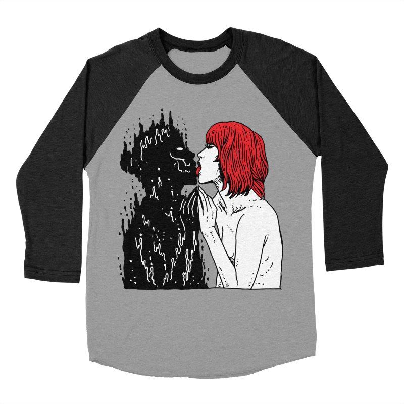 Darkness Tastes Good Men's Baseball Triblend Longsleeve T-Shirt by skullpel illustrations's Artist Shop