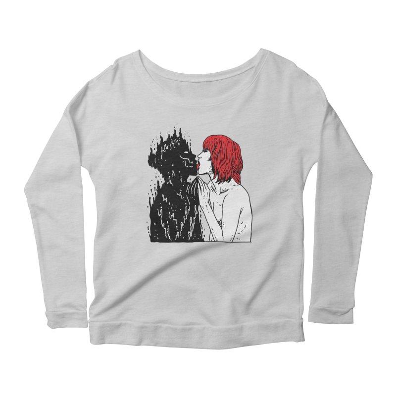 Darkness Tastes Good Women's Scoop Neck Longsleeve T-Shirt by Skullpel Illustrations's Artist Shop