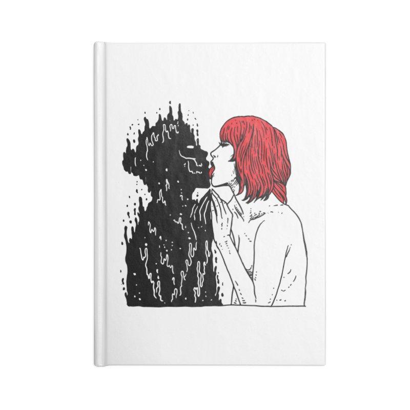 Darkness Tastes Good Accessories Blank Journal Notebook by skullpel illustrations's Artist Shop