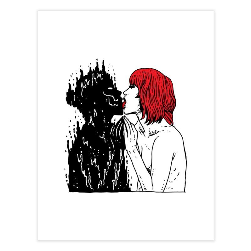 Darkness Tastes Good Home Fine Art Print by skullpel illustrations's Artist Shop