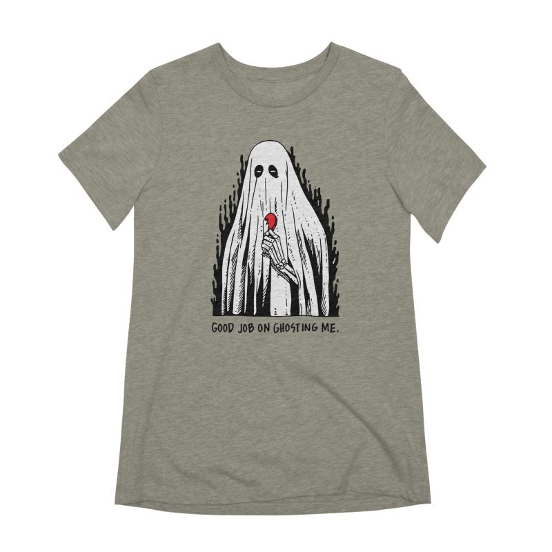 Good Job On Ghosting Me Women's Extra Soft T-Shirt by skullpelillustrations's Artist Shop