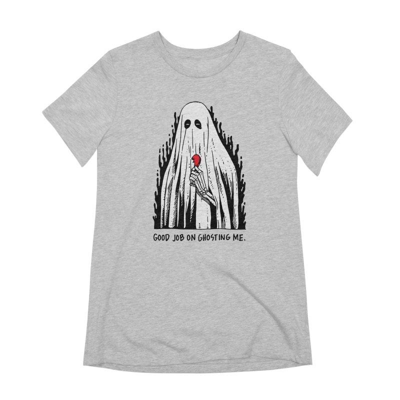 Good Job On Ghosting Me Women's Extra Soft T-Shirt by skullpel illustrations's Artist Shop