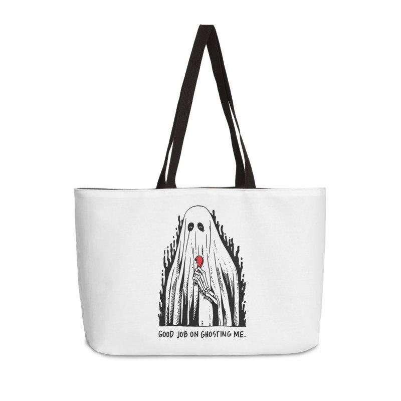Good Job On Ghosting Me Accessories Weekender Bag Bag by skullpel illustrations's Artist Shop