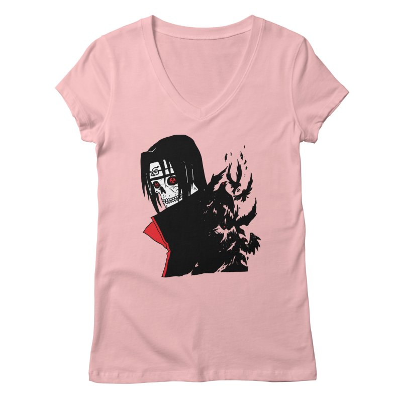 Skvllified Itachi Women's Regular V-Neck by skullpel illustrations's Artist Shop