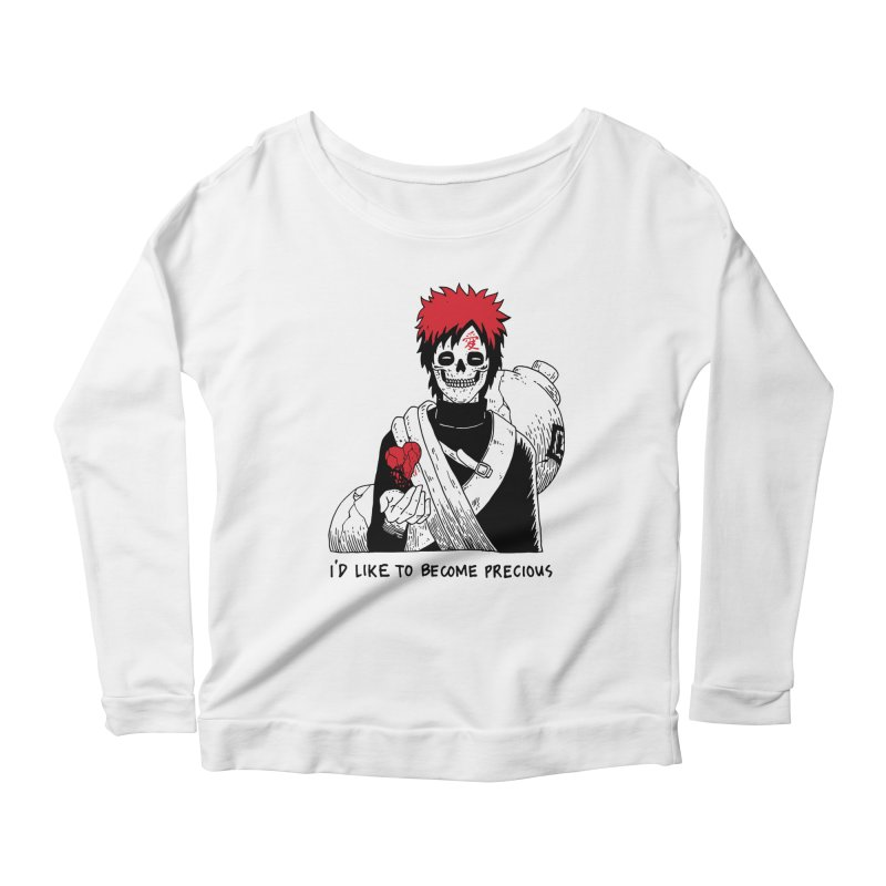 Skvllified Gaara Women's Scoop Neck Longsleeve T-Shirt by skullpel illustrations's Artist Shop