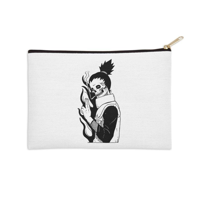 Skvllified Shikamaru Accessories Zip Pouch by skullpel illustrations's Artist Shop
