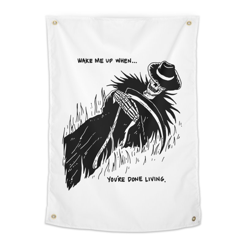 Wake Me Up When You're Done. Home Tapestry by skullpel illustrations's Artist Shop