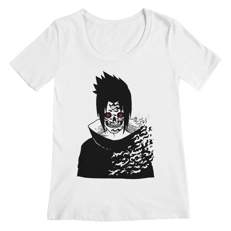 Skvllified Cursed Sasuke Women's Regular Scoop Neck by skullpel illustrations's Artist Shop