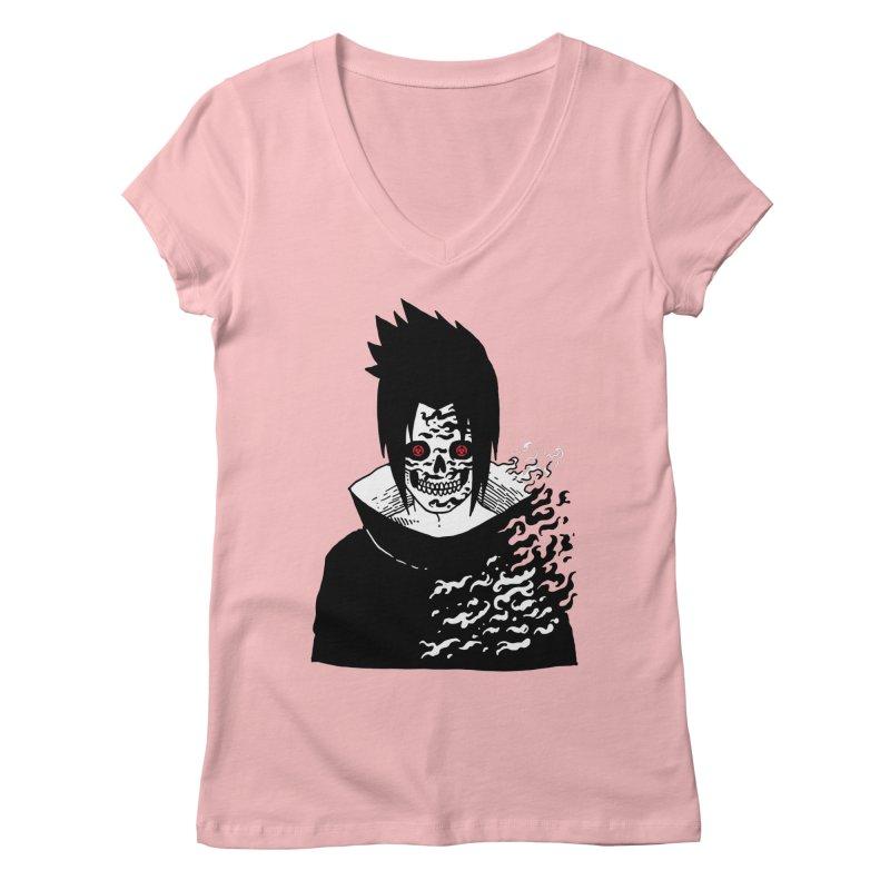 Skvllified Cursed Sasuke Women's Regular V-Neck by skullpel illustrations's Artist Shop