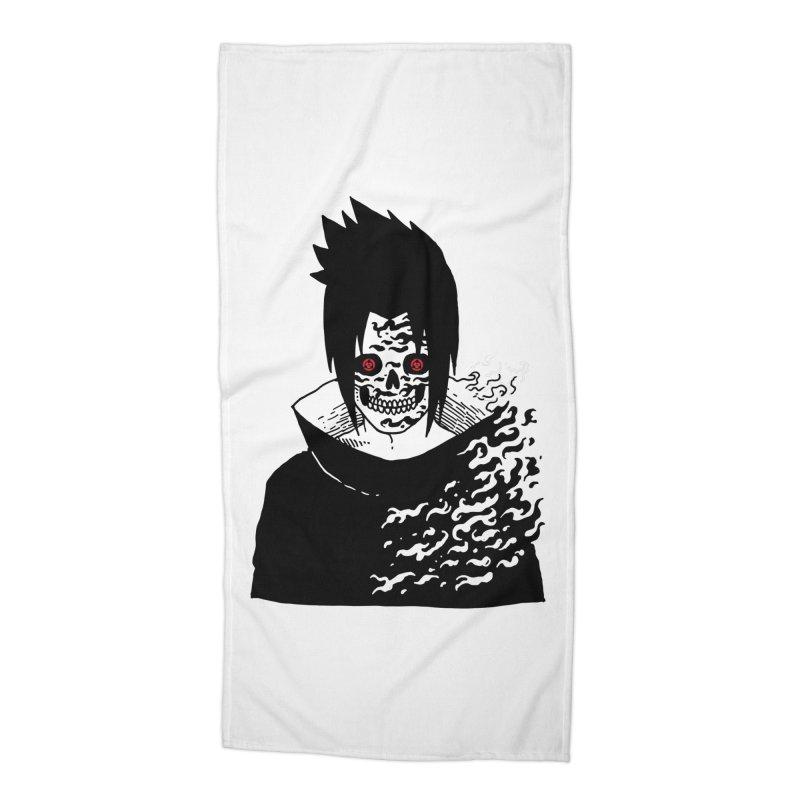 Skvllified Cursed Sasuke Accessories Beach Towel by skullpel illustrations's Artist Shop