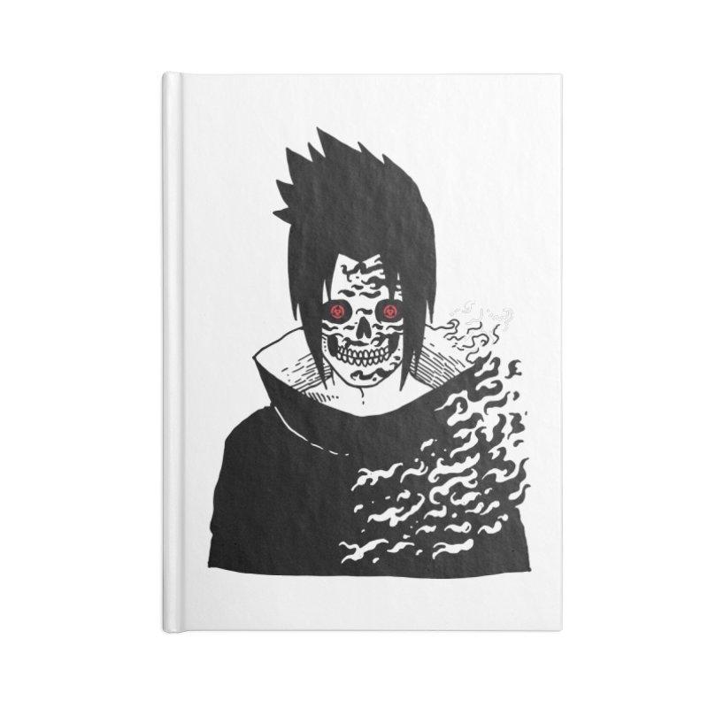 Skvllified Cursed Sasuke Accessories Blank Journal Notebook by skullpel illustrations's Artist Shop
