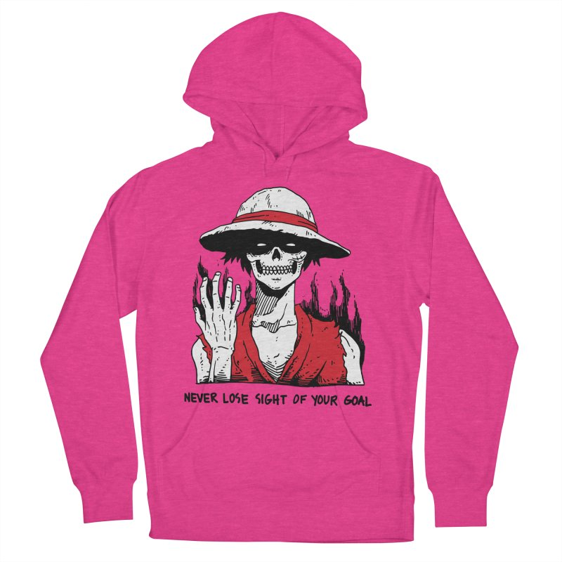 OP: Skvllified Luffy Women's French Terry Pullover Hoody by skullpel illustrations's Artist Shop