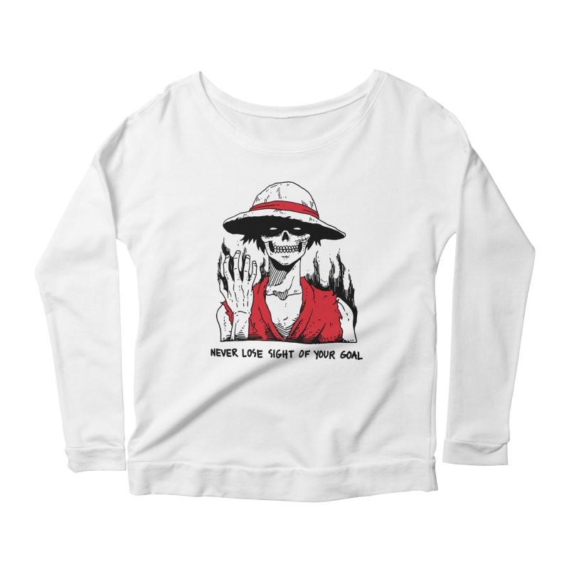OP: Skvllified Luffy Women's Scoop Neck Longsleeve T-Shirt by skullpel illustrations's Artist Shop