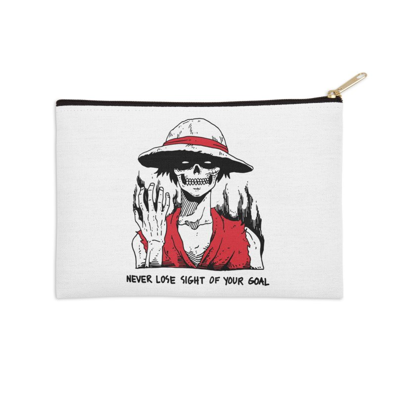 OP: Skvllified Luffy Accessories Zip Pouch by skullpel illustrations's Artist Shop