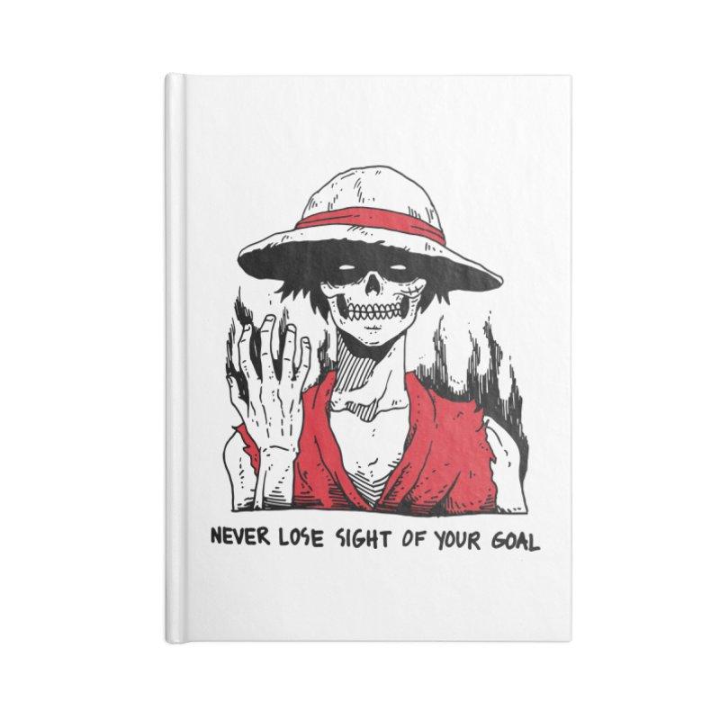 OP: Skvllified Luffy Accessories Blank Journal Notebook by skullpel illustrations's Artist Shop
