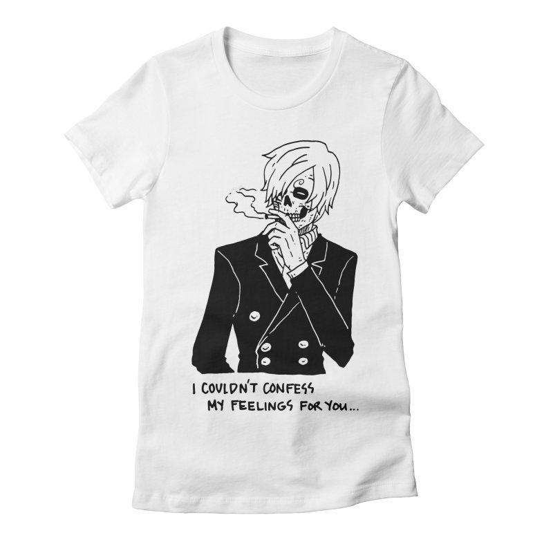 OP: Skvllified Sanji-sama Women's Fitted T-Shirt by skullpel illustrations's Artist Shop