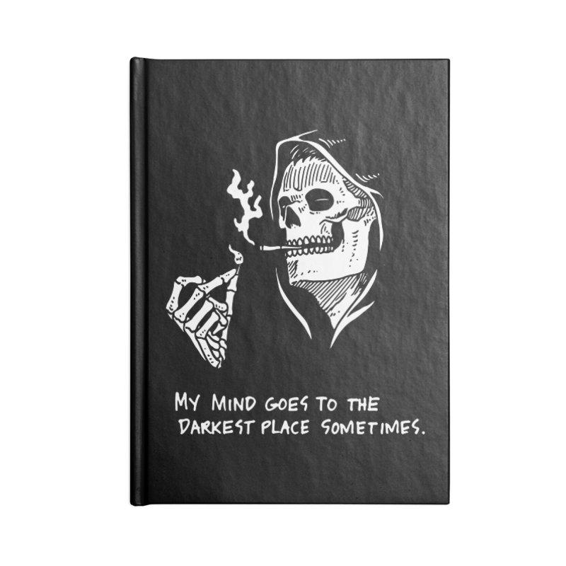 Deepest, Darkest Place Accessories Blank Journal Notebook by skullpel illustrations's Artist Shop