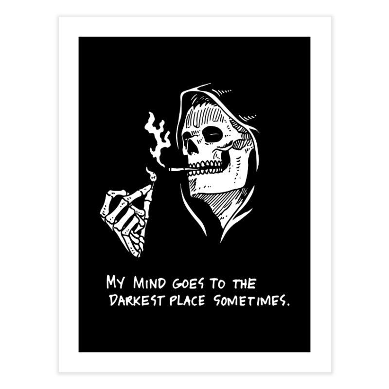 Deepest, Darkest Place Home Fine Art Print by Skullpel Illustrations's Artist Shop