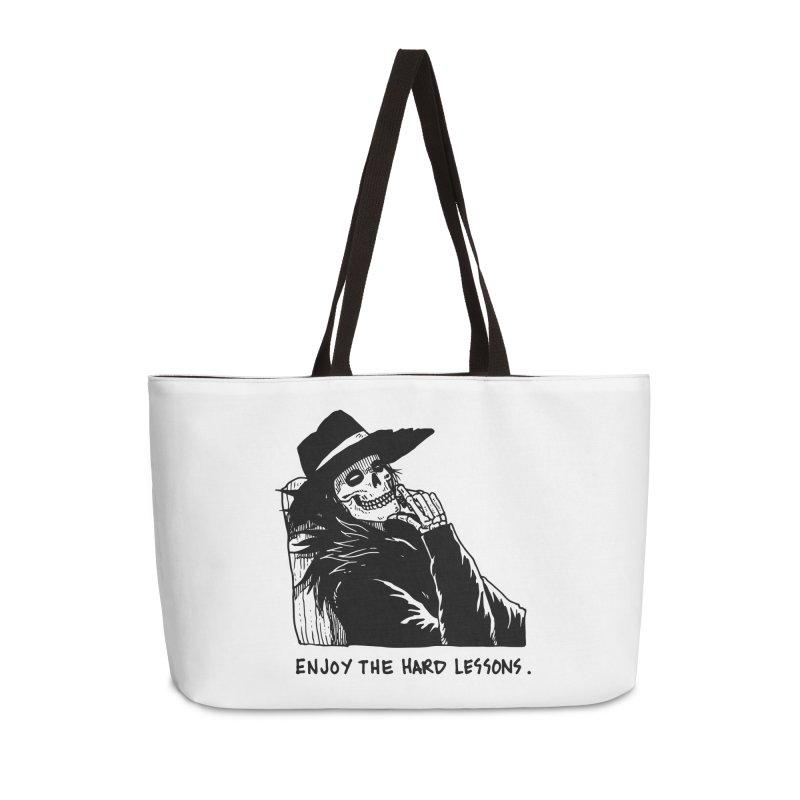 Enjoy The Hard Lessons Accessories Weekender Bag Bag by skullpel illustrations's Artist Shop