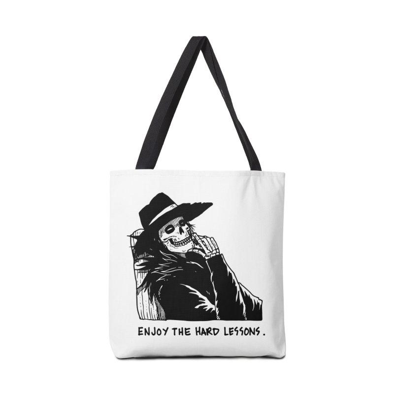 Enjoy The Hard Lessons Accessories Tote Bag Bag by skullpel illustrations's Artist Shop