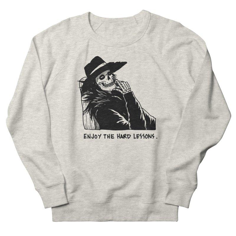 Enjoy The Hard Lessons Men's French Terry Sweatshirt by skullpel illustrations's Artist Shop