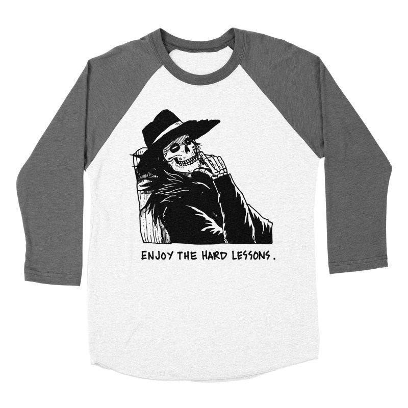 Enjoy The Hard Lessons Women's Baseball Triblend Longsleeve T-Shirt by skullpel illustrations's Artist Shop