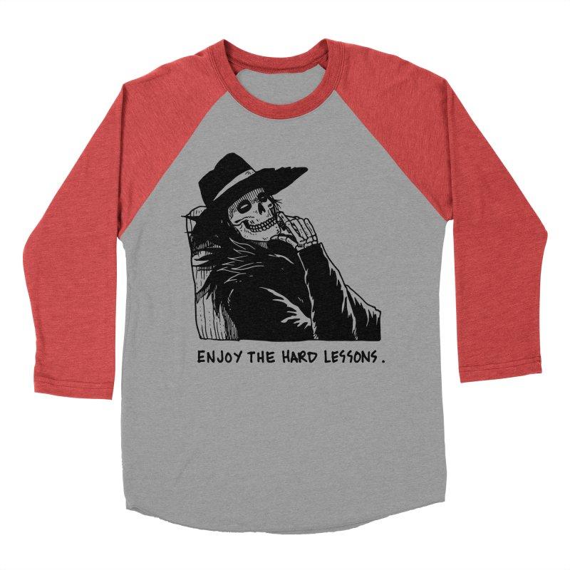 Enjoy The Hard Lessons Men's Baseball Triblend Longsleeve T-Shirt by skullpel illustrations's Artist Shop